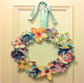 Craft Project #3: Festive Floral Wreath